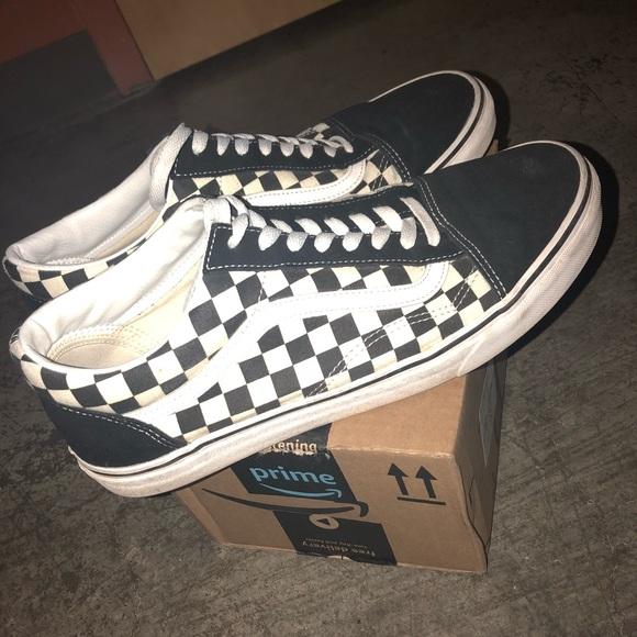 Old Vanssz Skool Checkered Checkered Vanssz Old 12 12 Skool Skool Old Ok8w0PZNnX